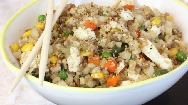 Cauliflower fried rice clean delicious with dani spies this very easy to make cauliflower fried rice has become a fast favorite for me i love that it comes together so quickly and that at the end of the day ccuart Choice Image