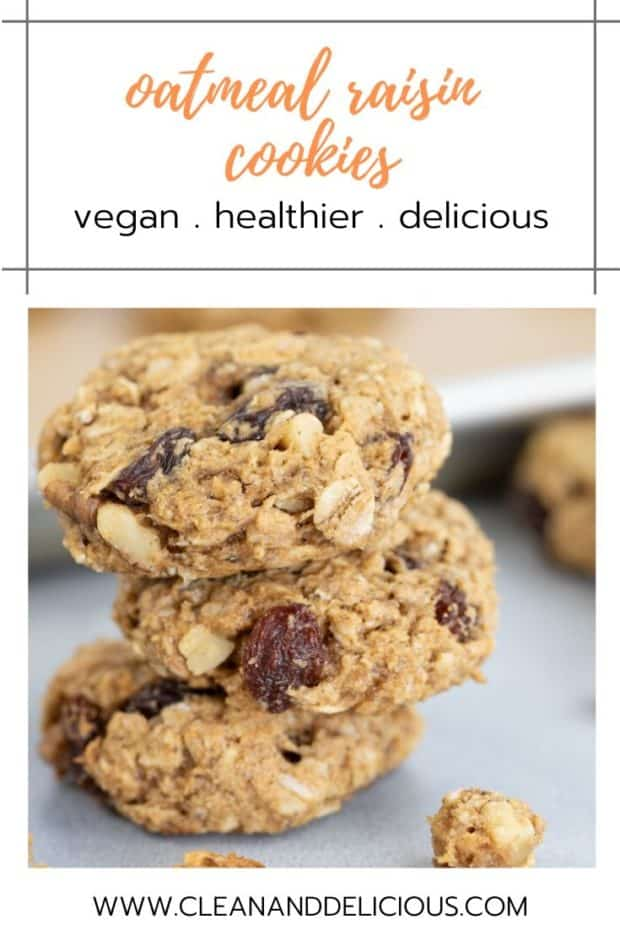 how to make vegan oatmeal raisin cookies