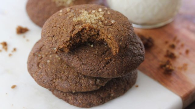 Soft Ginger Cookies Vegan Recipe Clean Delicious