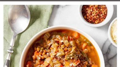 instructions for a healthy lentil soup recipe