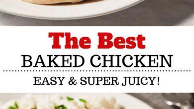 Deliciously seasoned baked chicken breast.