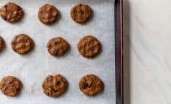 placing cookies on a cookie sheet