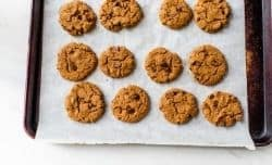 baked cookies on a sheet pan