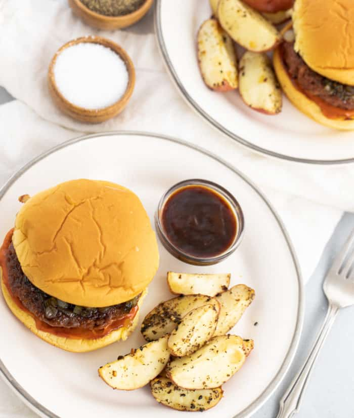 beyond-meat-burgers-and-roasted-potatoes