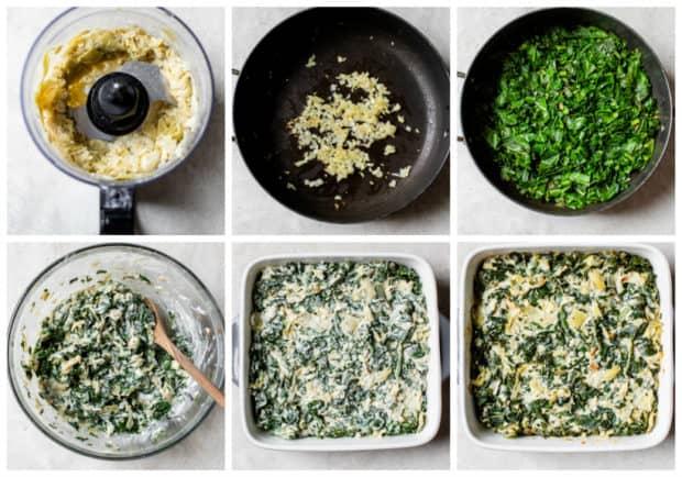 steps for making healthy artichoke dip