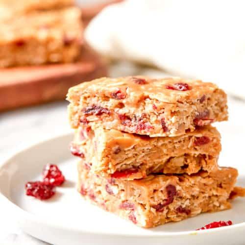 no bake cranberry oatmeal bars