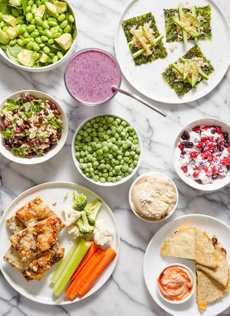 beautiful display of simple freezer meal ideas
