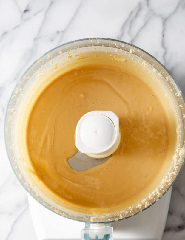 creamy peanut butter in food processor