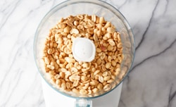 roasted peanuts in food processor