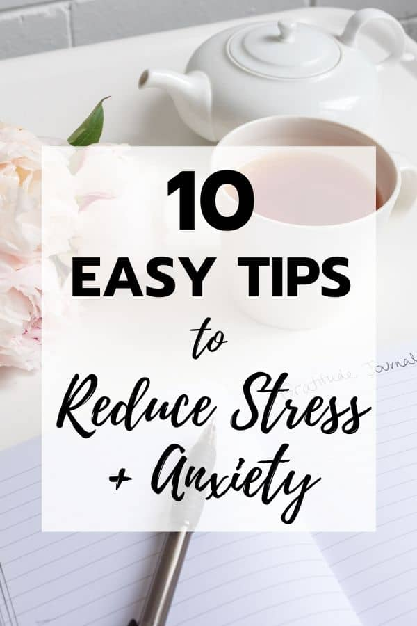 pin for how to reduce anxiety & destress