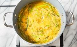 asparagus soup simmering