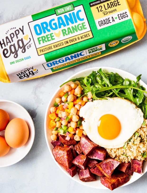 sweet potato power bowl + eggs