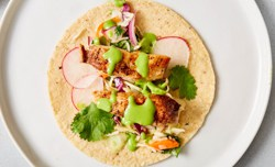fish taco assmebled