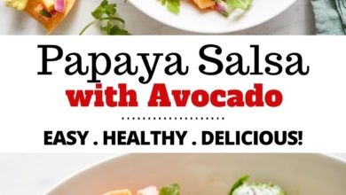 how to make papaya salsa