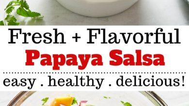 how to make Papaya Salsa with Avocado