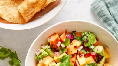 fresh Papaya Salsa with Avocado