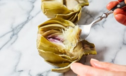remove artichoke heart