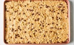 batter spread on baking sheet