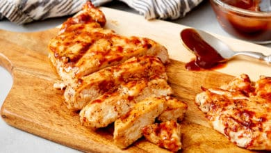 grilled chicken breast with bbq sauce