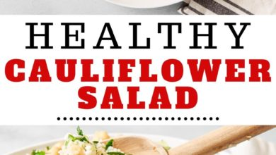how to make a healthy cauliflower salad