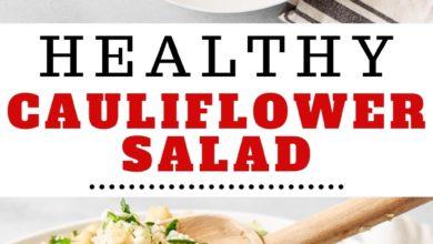 how to make a healthy cauliflower salad