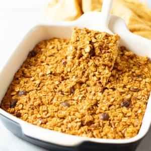 Pumkin Baked Oatmeal In a 9x9 Pan