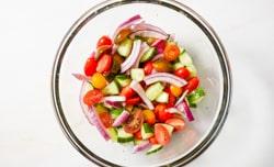 chopped veggies in a bowl